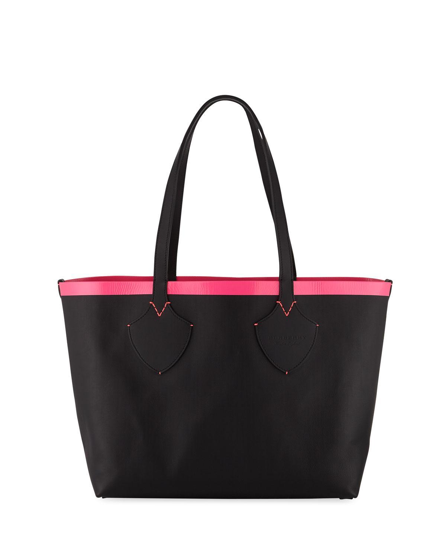 54444fe58f5f Burberry. Women s Check-print Canvas Shoulder Tote Bag