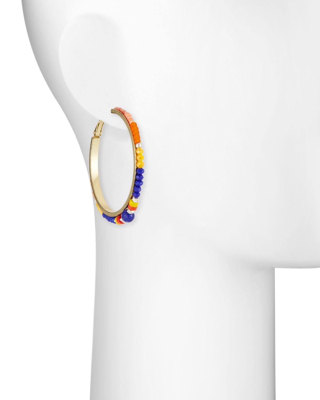 Nakamol Multicolor Bead Hoop Earrings v9bcgsCnJ