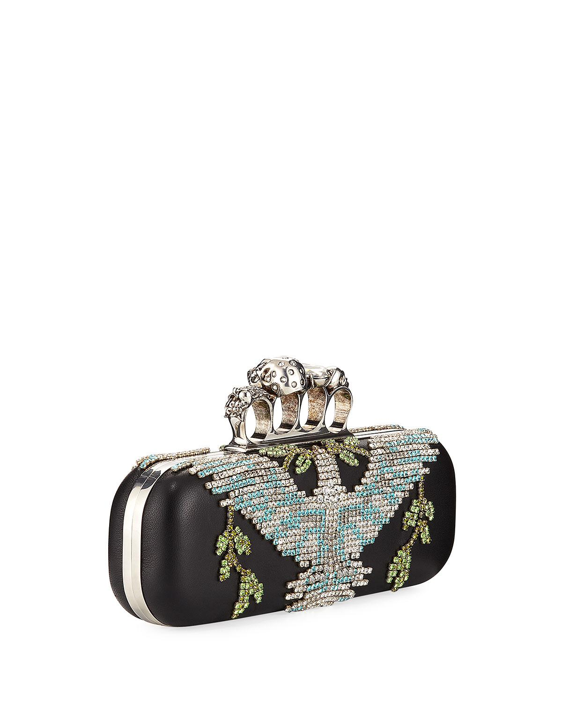 Alexander McQueen Crystal Dove Knuckle Box Clutch Bag lZkGmaw