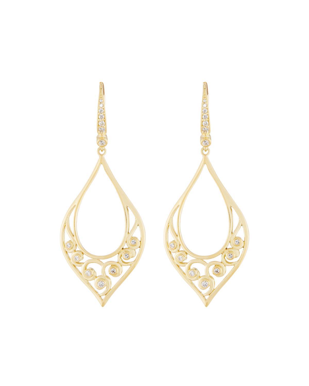 Penny Preville 18k Small Diamond Triangle Drop Earrings 7pyw8