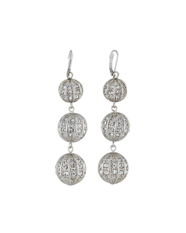 Fragments Triple Crystal Dangle Earrings rI18Qr