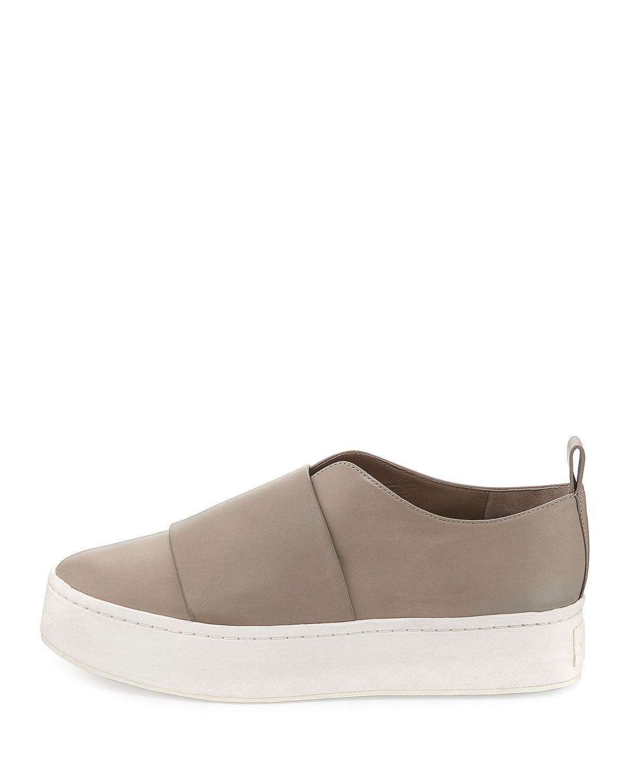 7430471dda6 Lyst - Vince Wallace Leather Platform Skate Sneaker