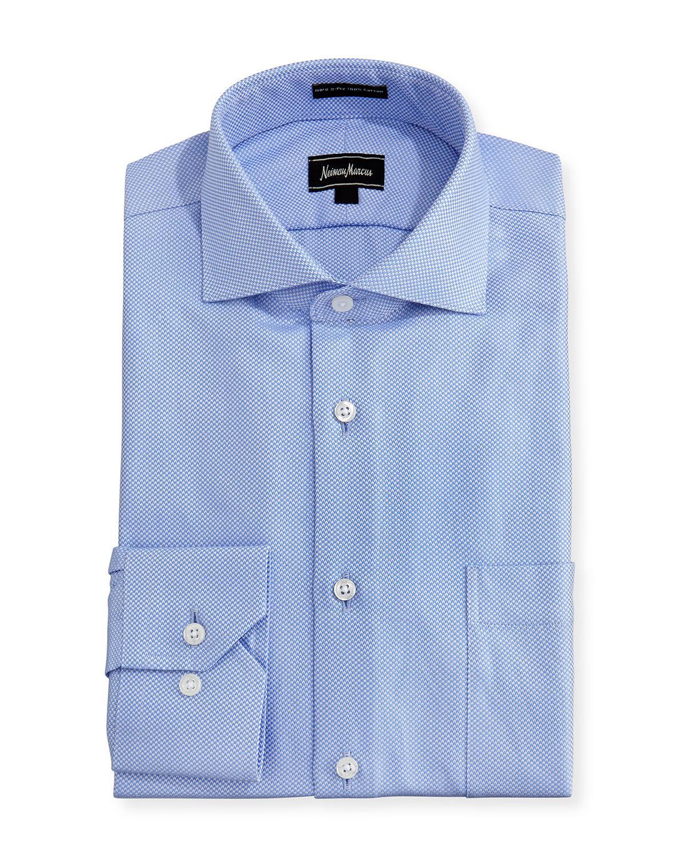 Lyst neiman marcus classic fit regular finish dash dress for Regular fit dress shirt