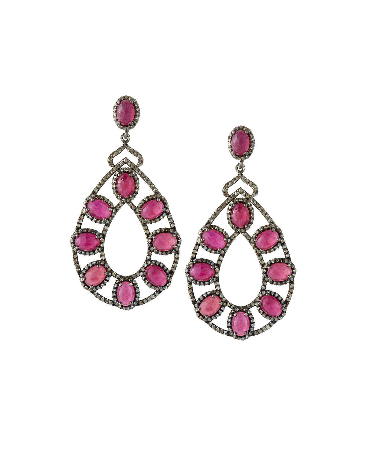 bavna jewelry lyst bavna composite ruby chagne drop 4224