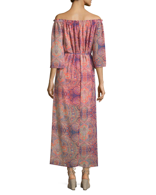 Neiman marcus Paisley-print Maxi Dress | Lyst