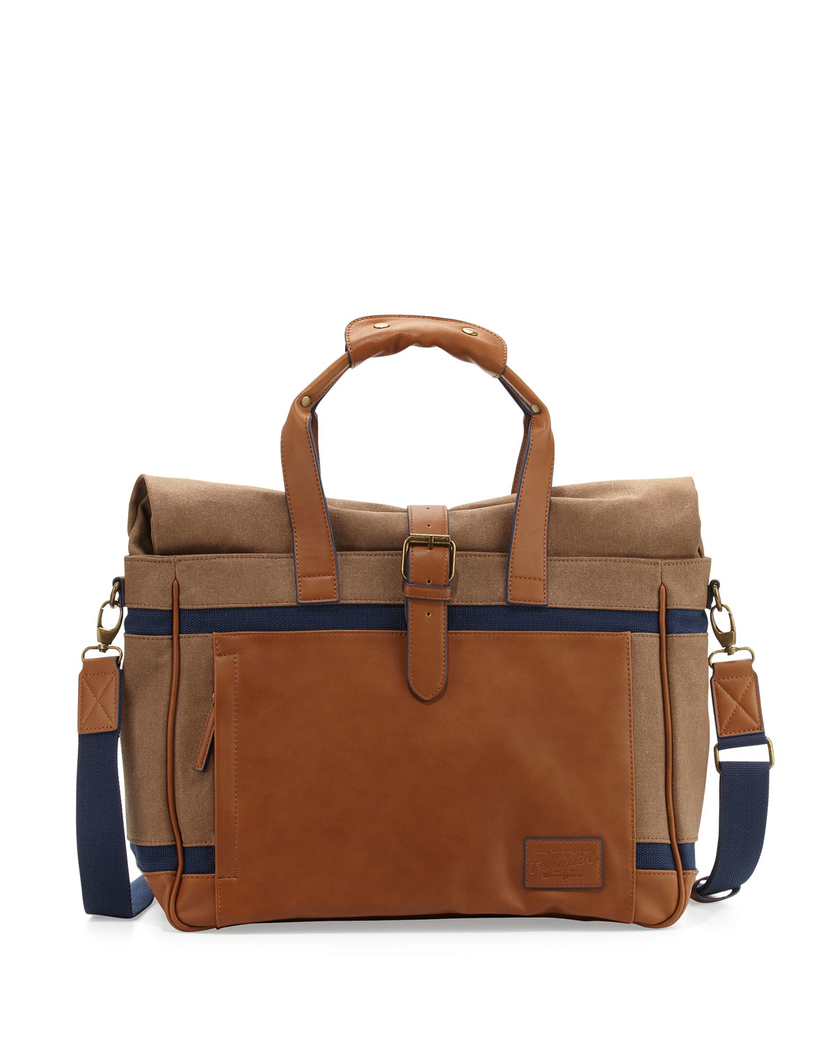 Inspired by military duffel bags, this backpack boasts a waxed canvas exterior and interior divider, Horween leather straps and shoulder pads, a laptop sleeve, zippered iPad pouch, open-top notebook, phone and pen pockets, and utility straps.