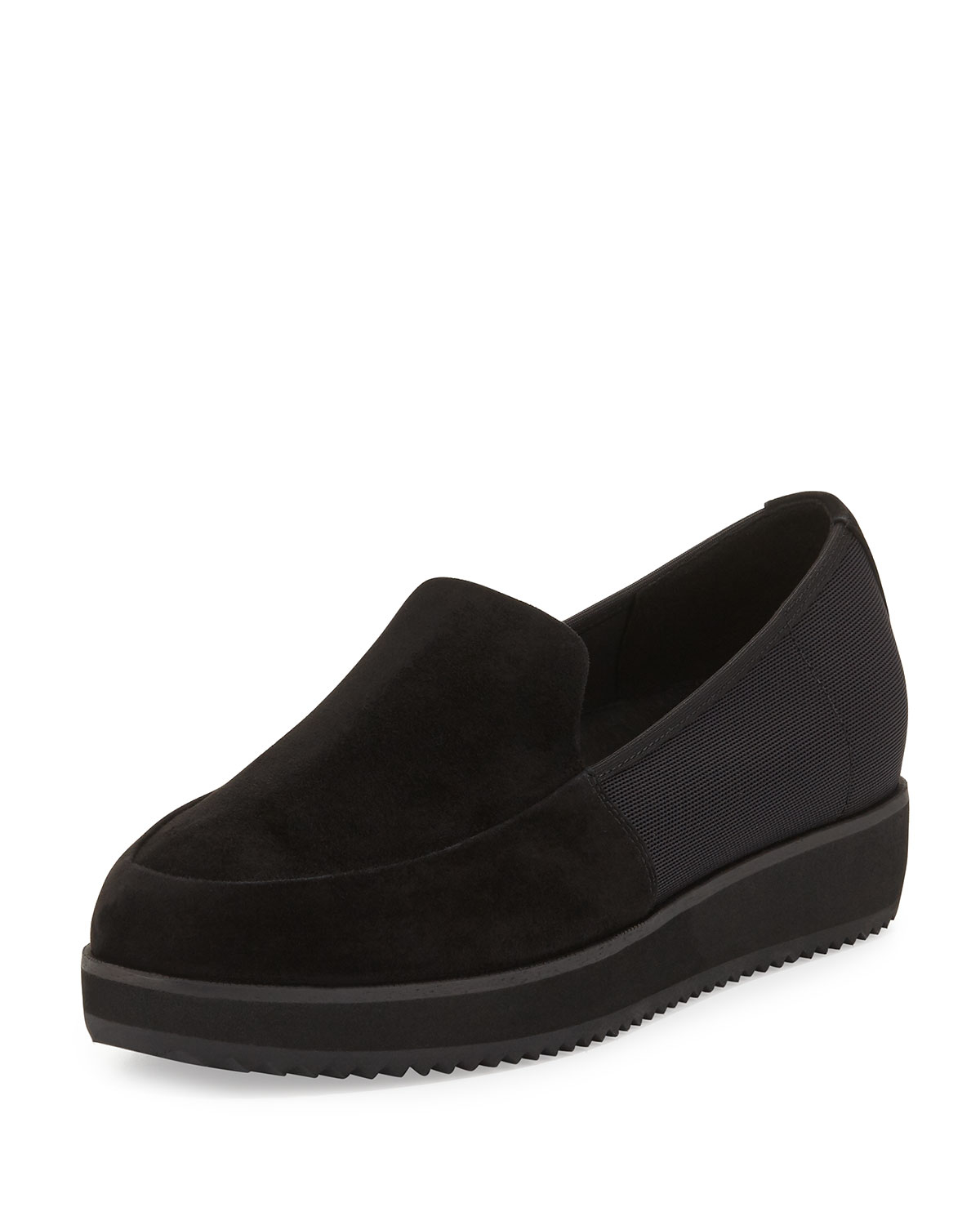 11d7ad9be5d Lyst - Eileen Fisher Dell Suede Slip-on Loafer
