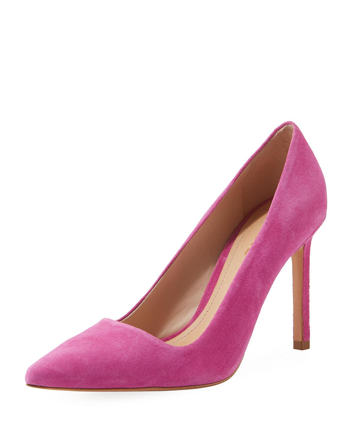 Schutz Pink Suede Leather Pumps