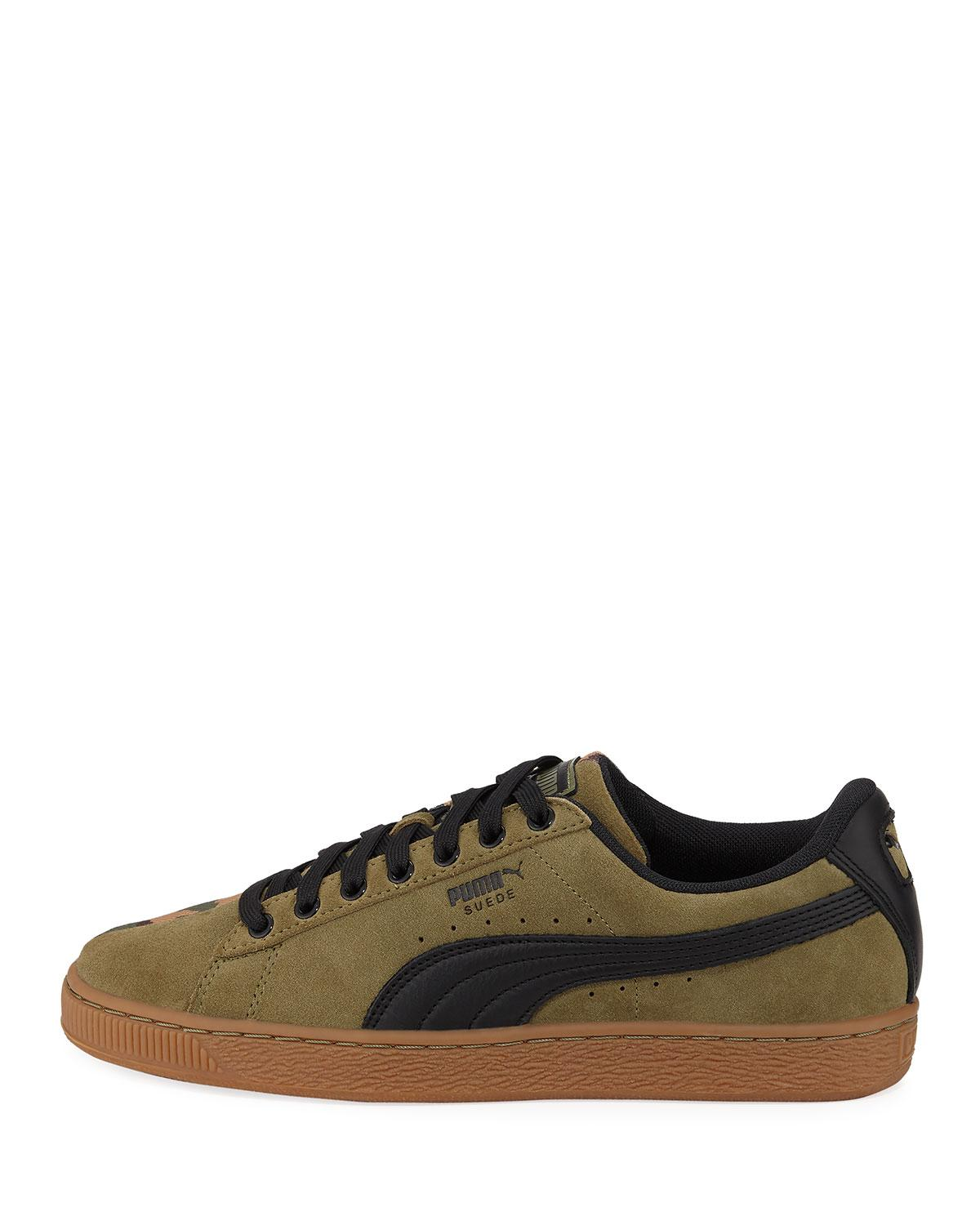 Lyst - PUMA Men s Suede Sp Low-top Camo Sneakers in Green for Men - Save 7% 89ad6b9d2
