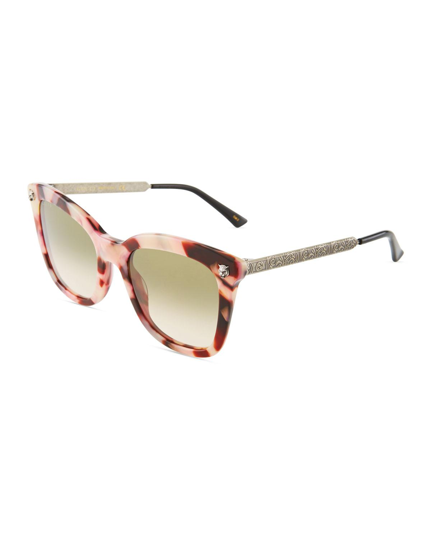 3c0cf72ecb857 Gucci. Women s Square Acetate metal Tiger Sunglasses