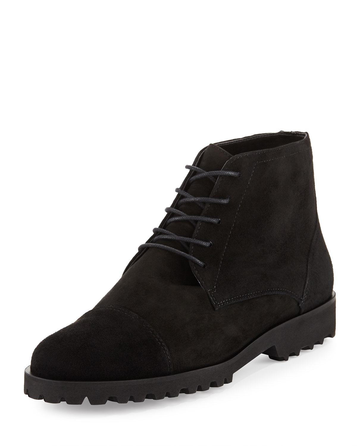 Amalfi by rangoni Tempra Suede Lace-up Boot in Black