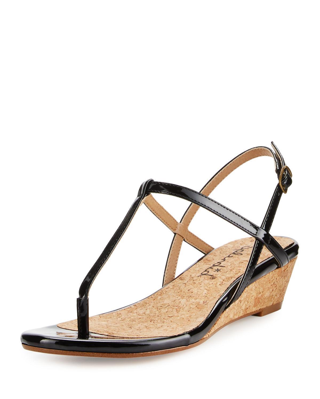 0c1f962a40f Lyst - Splendid Edgewood Patent Wedge Sandal