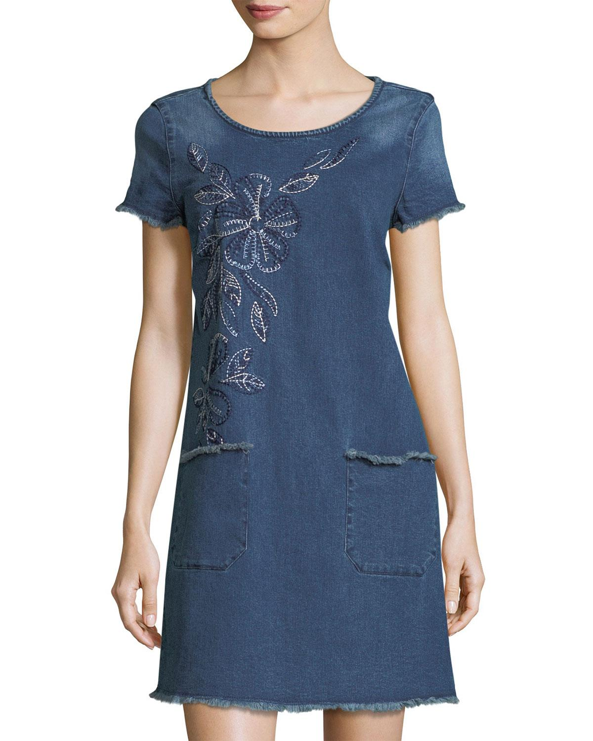 Lyst nanette lepore one a day embroidered denim