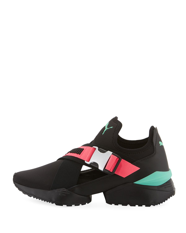 Lyst - PUMA Muse Eos Cutout Neoprene Sneakers in Black c39e981d2