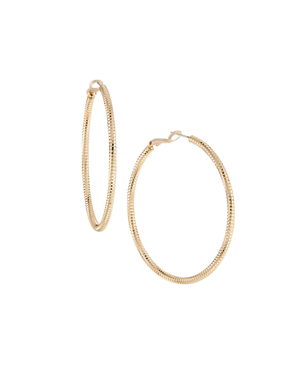 Panacea Multicolor Textured Hoop Earrings Lyst View Fullscreen