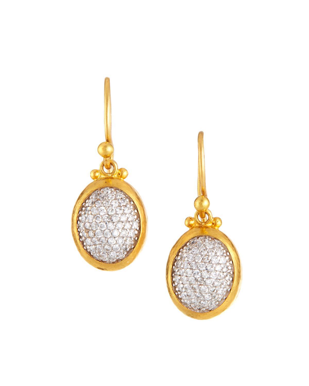 Gurhan 24k Amulet Diamond Pavé Drop Earrings TFROo