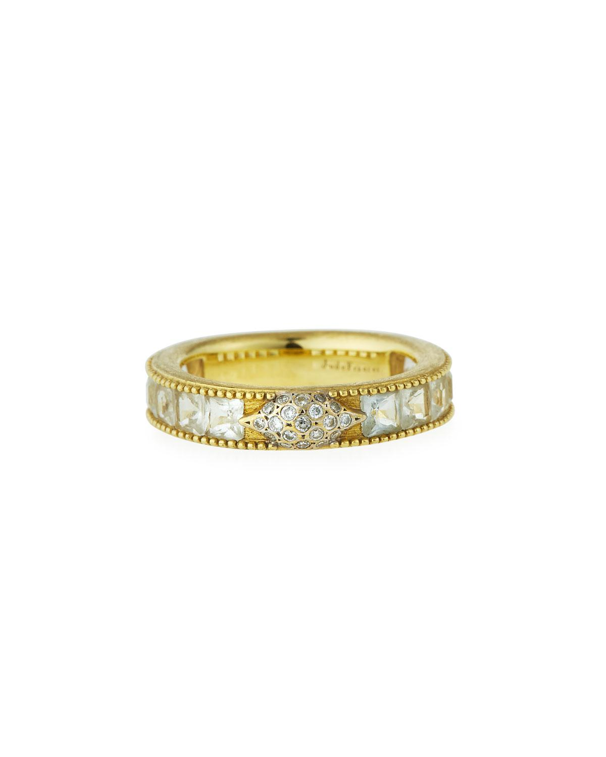 Jude Frances Lisse Moonstone & Diamond Band Ring in 18k Yellow Gold yiD6A
