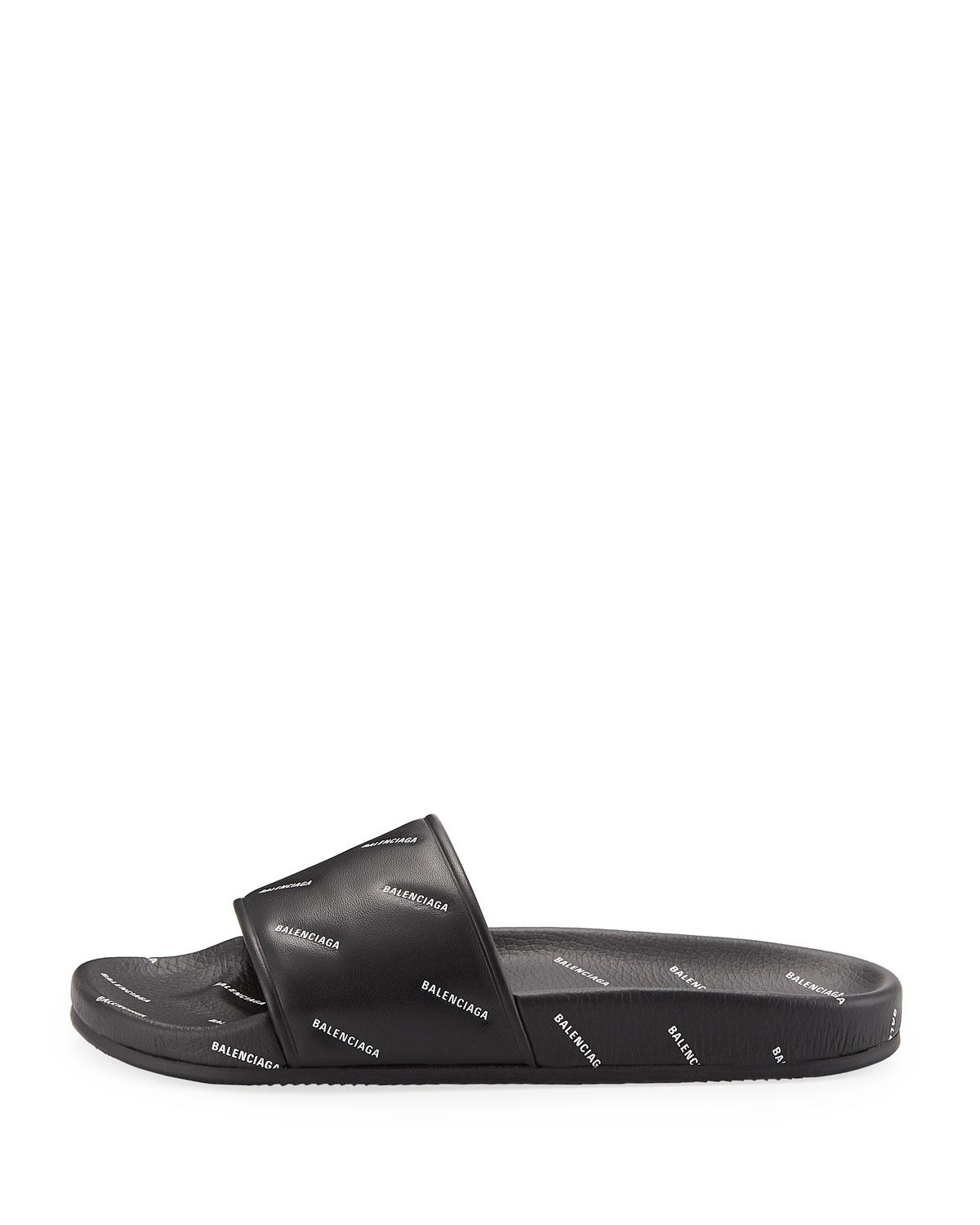 d5c82c5ebf198 Lyst - Balenciaga Leather Slides in Black for Men - Save 47%