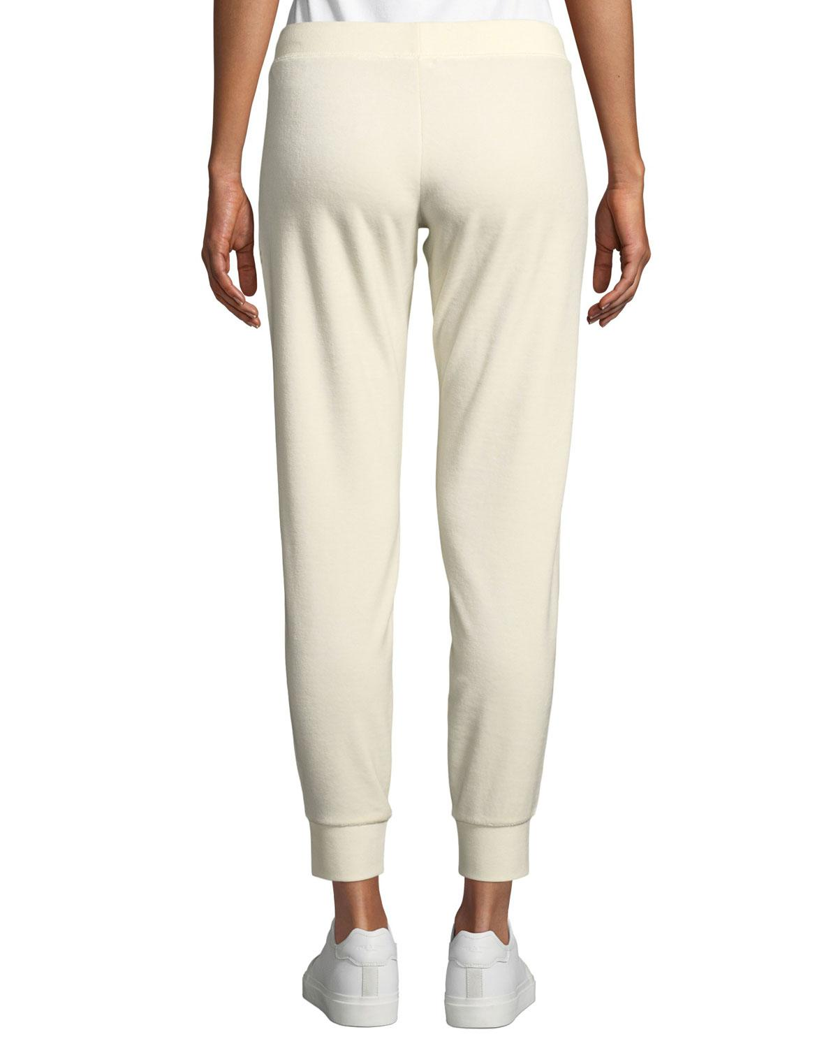 c0fb620780cd Lyst - Juicy Couture Zuma Velour Velvet Luxe Sweatpants in White