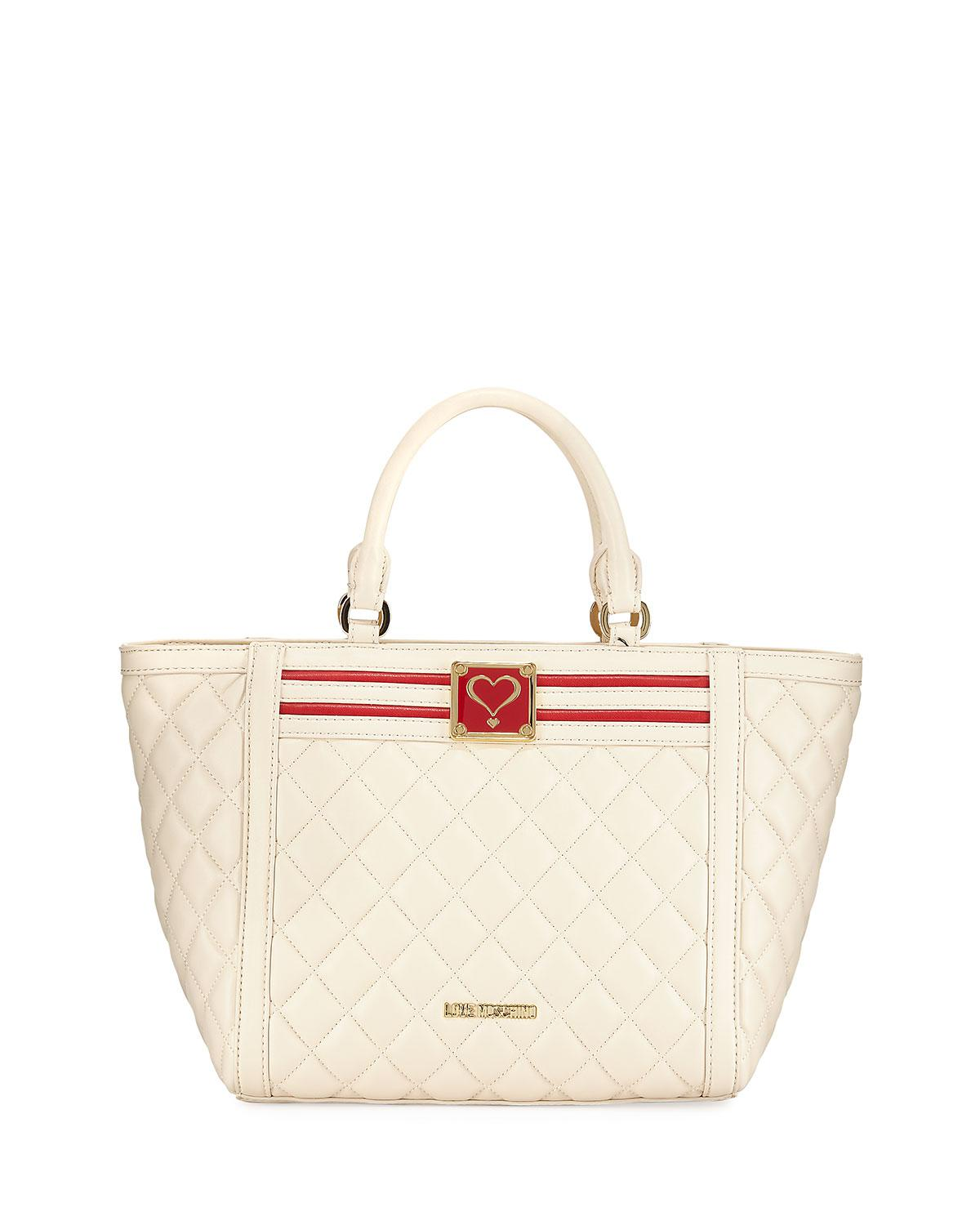 Love Moschino Quilted Faux-Leather Top Handle Bag XIOHVwDpHs