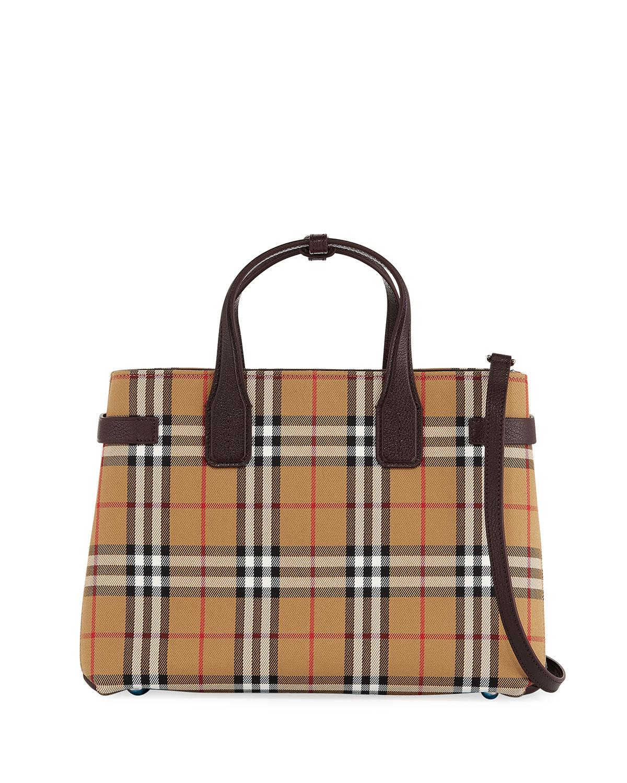 b320447f8d53 Lyst - Burberry Check Medium Tote Bag in Brown