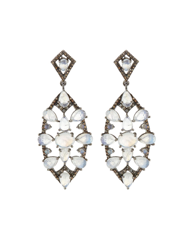 Bavna Diamond Double-Horn Dangle Earrings sUBNDRD