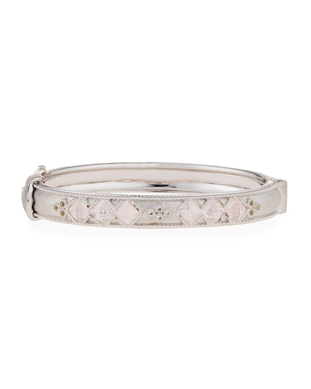 Jude Frances Moroccan Silver Cushion Bangle Bracelet in Iolite 07gSgJ
