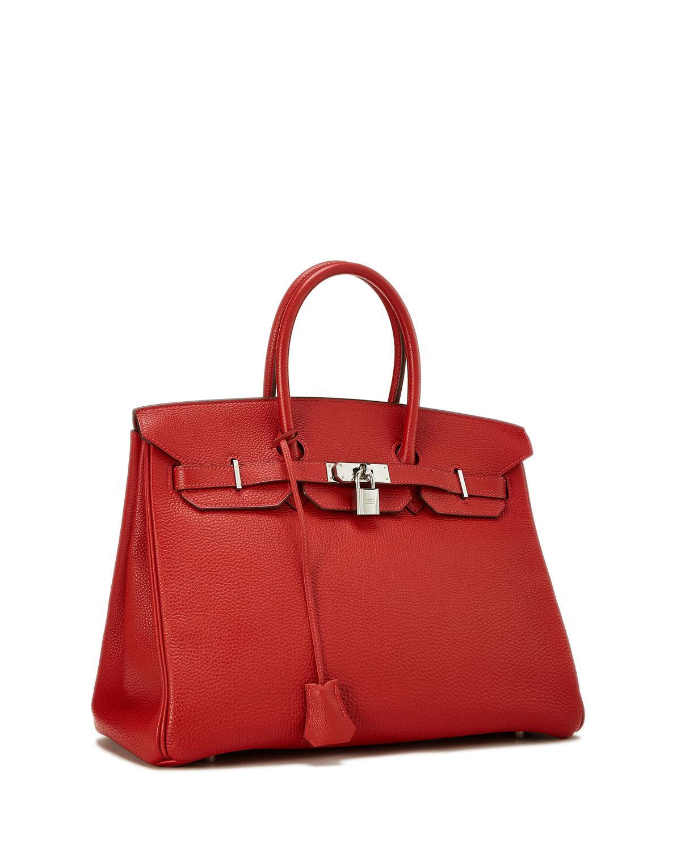 de61ae17e911 Lyst - Hermès Birkin 35 Vermillion Togo Satchel Bag in Red