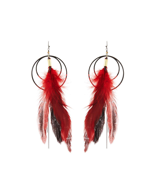 Nakamol Long Feather Dangle Earrings tJXPzTlRWG