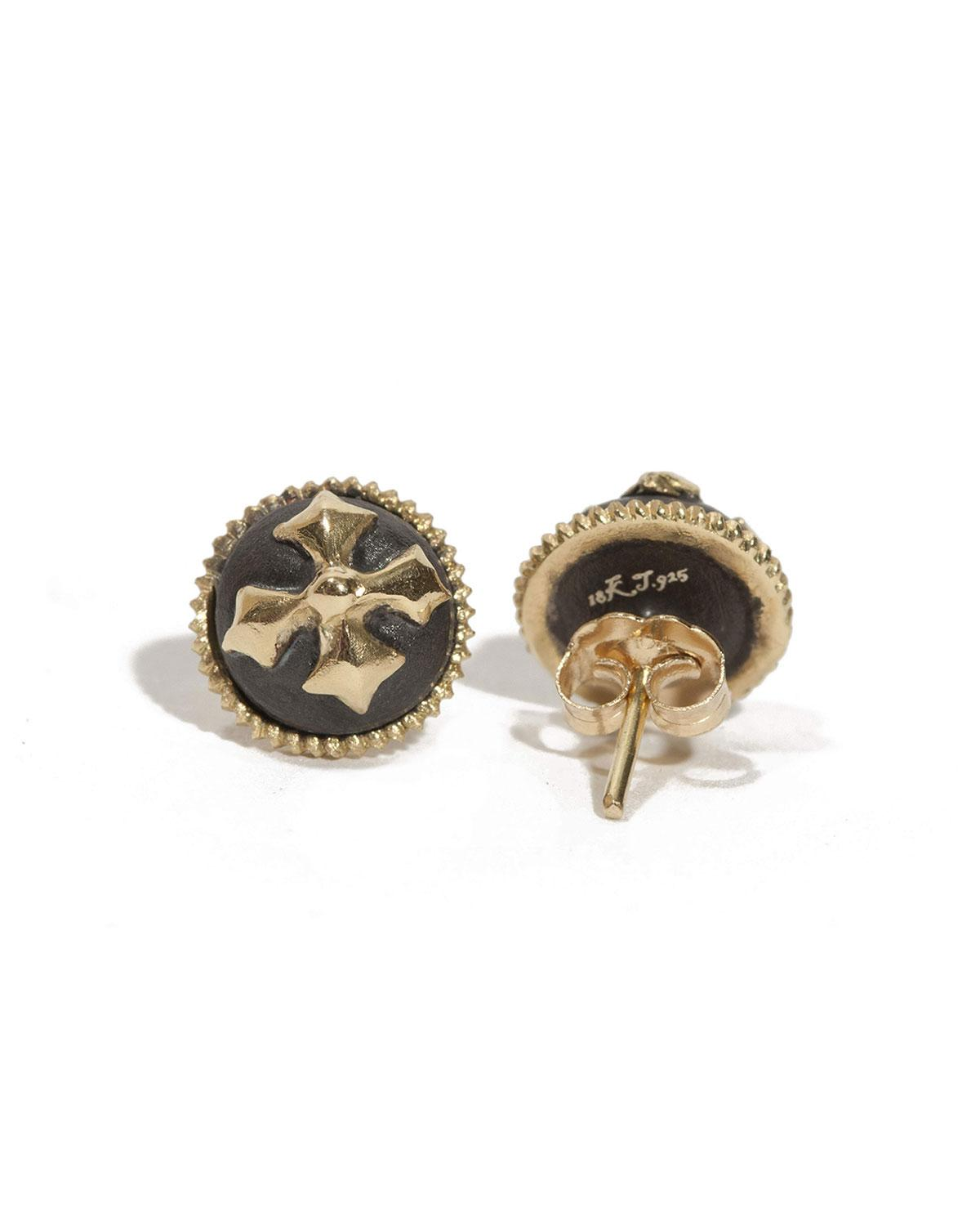 Armenta Old World Round Stud Earrings urMRpl