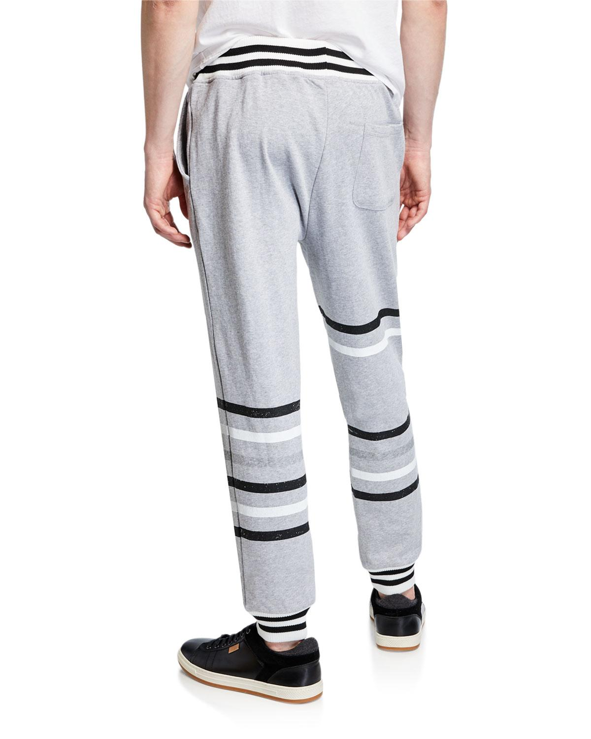 f284ee978e7458 Lyst - Threads For Thought Men's Eric Striped Jogger Pants in Gray for Men