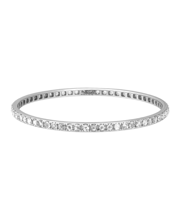 272c01dfa Tiffany & Co. Metro 18k White Gold Diamond Bangle Bracelet in White ...