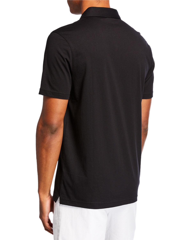 9334992c Lyst - Michael Kors Men's Camo Ribbon Trim Polo Shirt in Black for Men