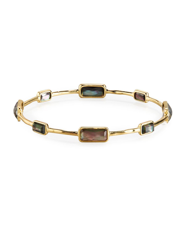 Ippolita 18k Gold Rock Candy Nine-Stone Bangle, Fall Rainbow