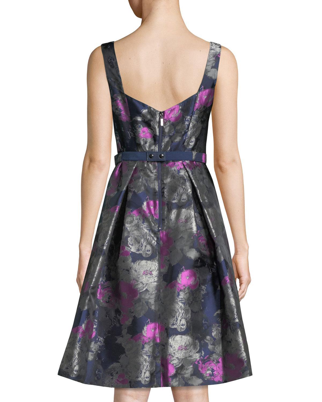 879e2cd4cb Eliza J Floral Jacquard Midi Skirt