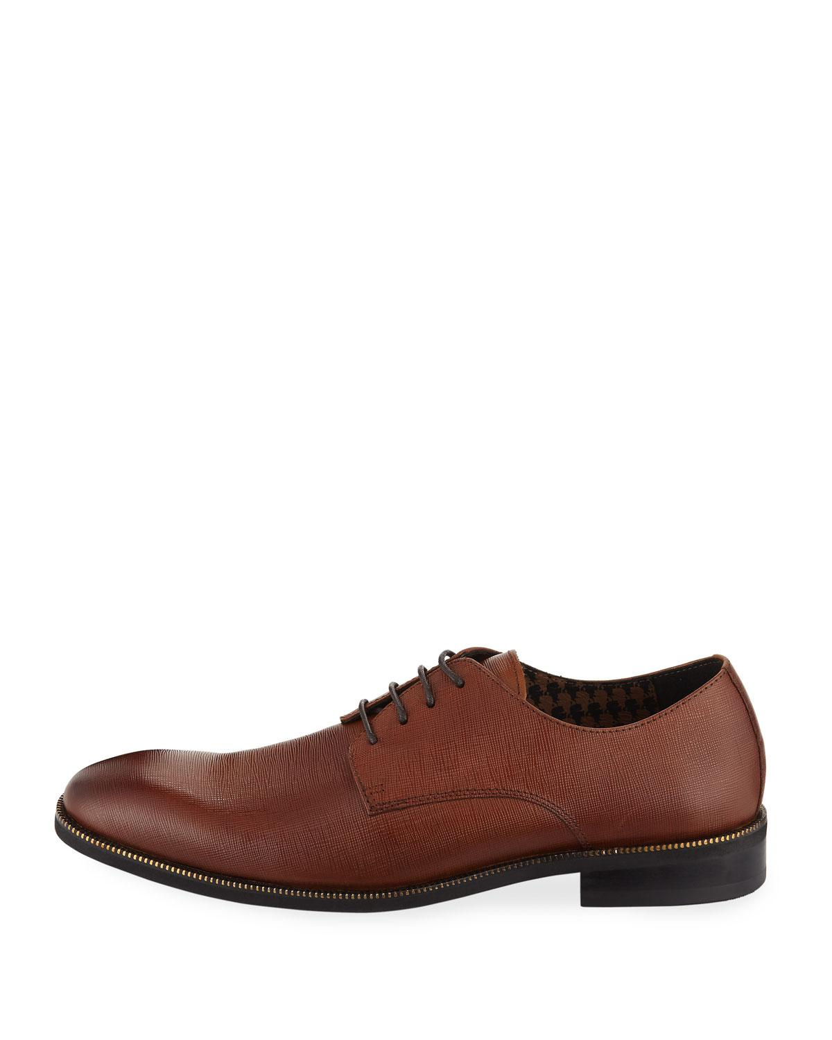 Lyst Karl Lagerfeld Men S Oxford Lace Up Dress Shoes In Brown For