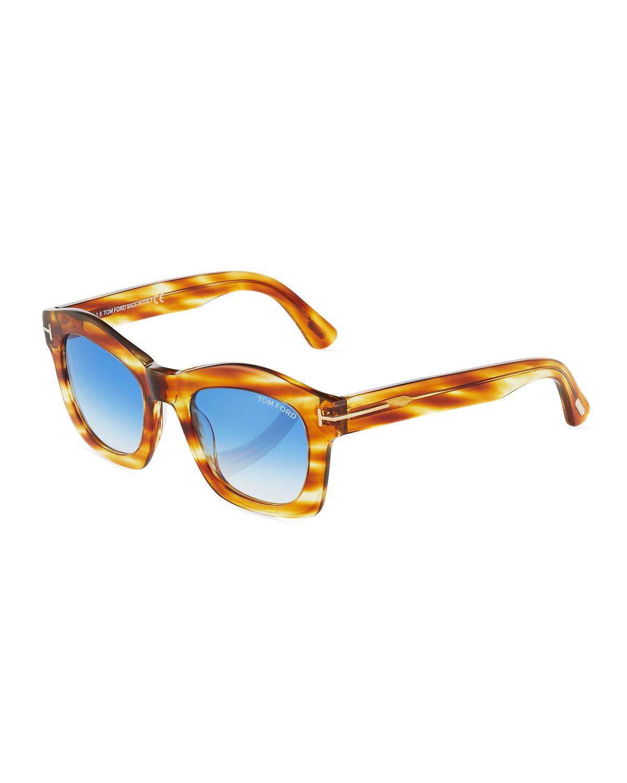 283e9cb308f4 Tom Ford - Blue Plastic Square Sunglasses - Lyst. View fullscreen