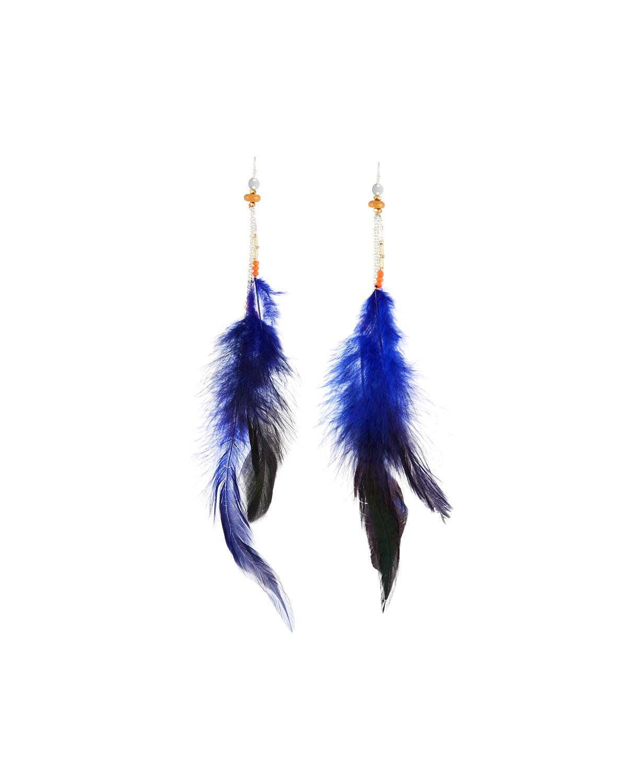 Nakamol Feather Thread-Through Hoop Earrings XlfoY