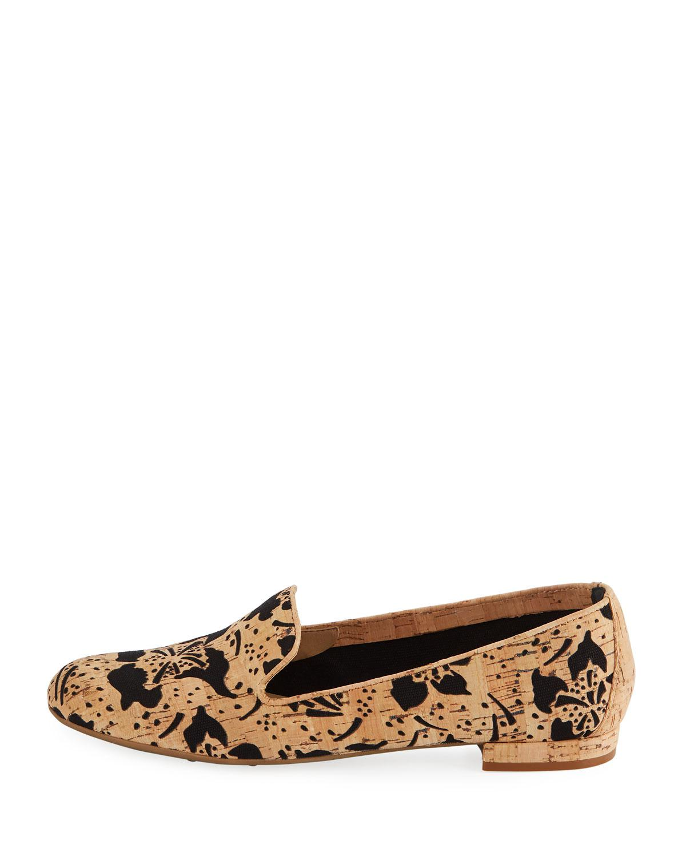 76df1ad0231 Lyst - Sesto Meucci Kandi Flower Cork Loafer in Black