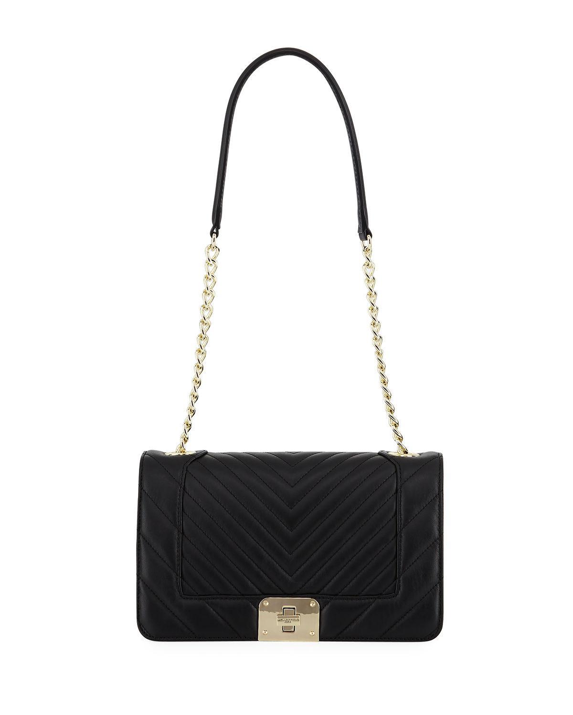 Lyst - Karl Lagerfeld Lara Quilted Leather Box Shoulder Bag in Black b4b31de5bd287