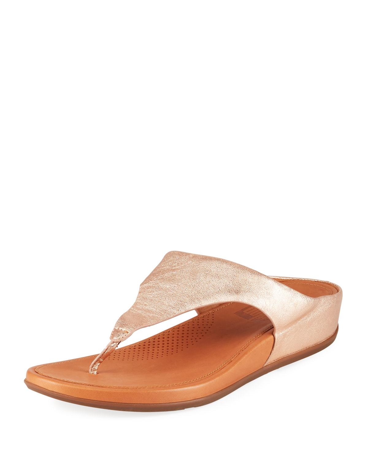 ab62be390 Fitflop. Women s Banda Metallic Leather Thong Sandals