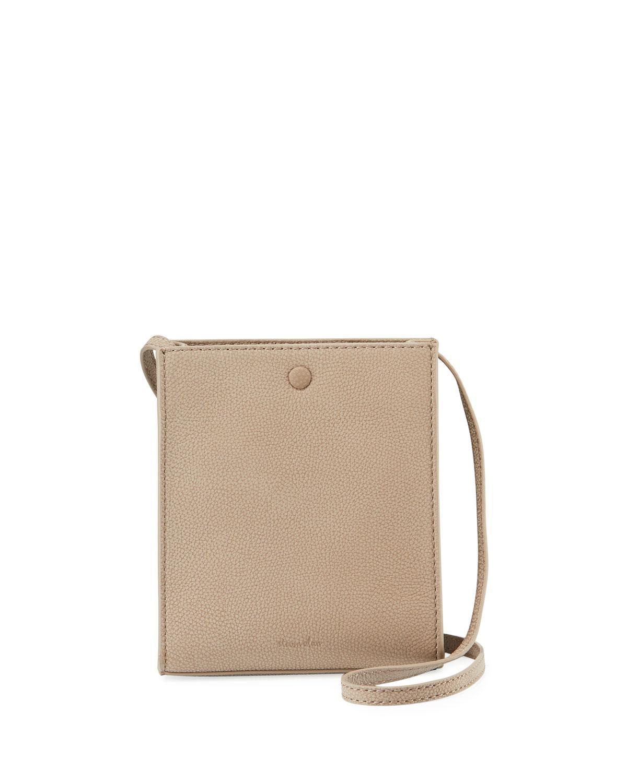 ce1f19122848 Lyst - Steven Alan Camden Pebble Leather Crossbody Bag in Gray
