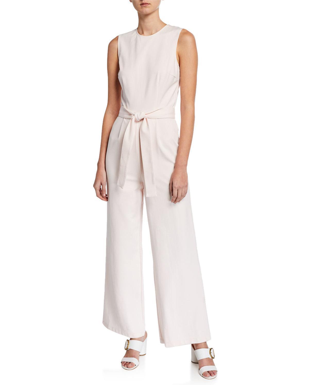 a49a6ece7ff Neiman Marcus. Women s Dalia Crewneck Wide-leg Jumpsuit