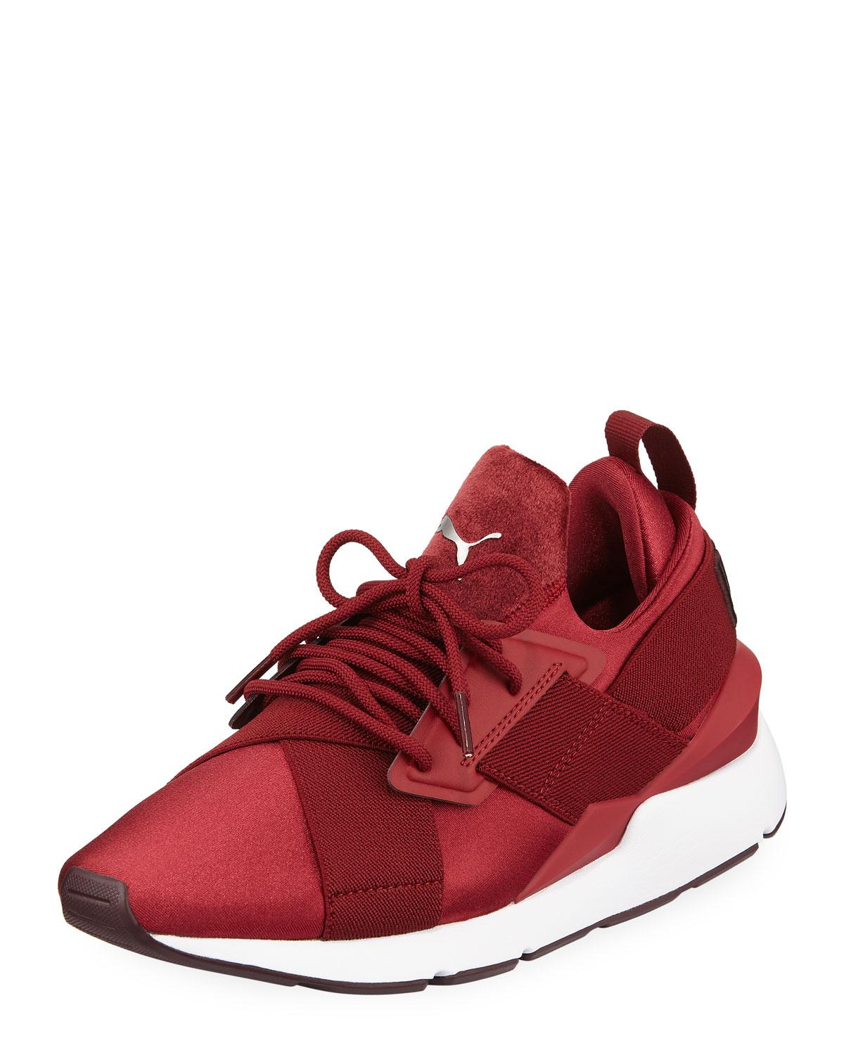 783eee1d0e55da Lyst - PUMA Muse Satin Ii Lace-up Sneakers in Red - Save 35%