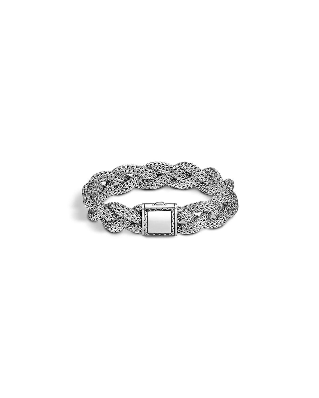John Hardy Silver Pave Diamond Swirl Chain Bracelet GOpMyZsqj