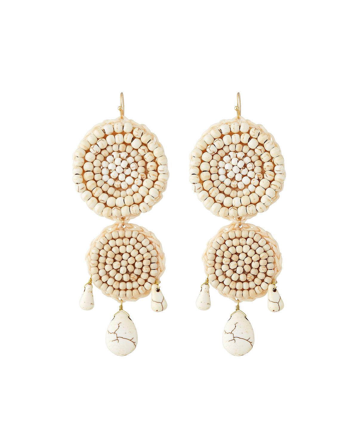 Panacea Triple Circle Drop Earrings j6cZ0Rh