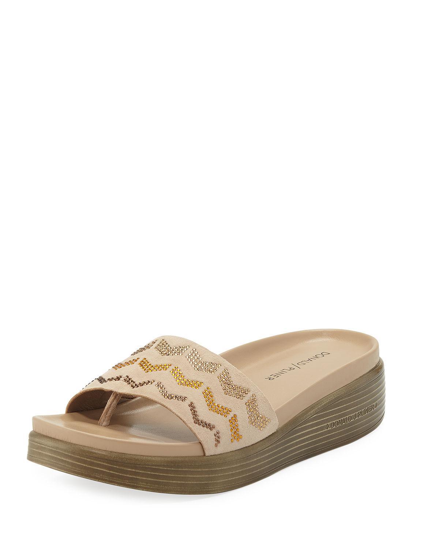 8cdf6bf46f1 Lyst - Donald J Pliner Fiji Suede Slide Sandals in Black