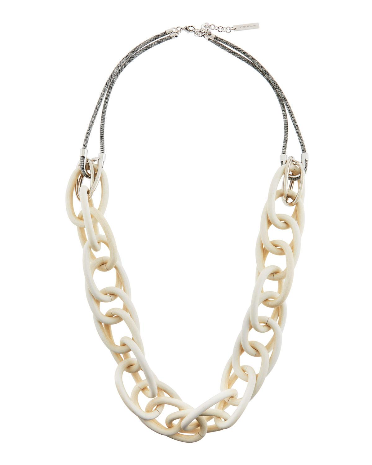 Lafayette 148 New York Long Twisted-Link Necklace, 35