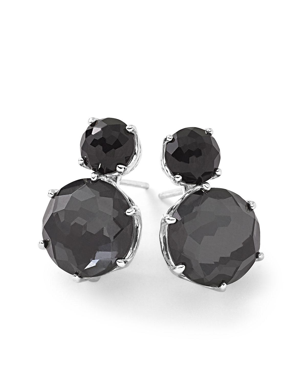 Ippolita Rock Candy Two-Stone Earrings in Onyx and Hematite 6iawZ4Ld