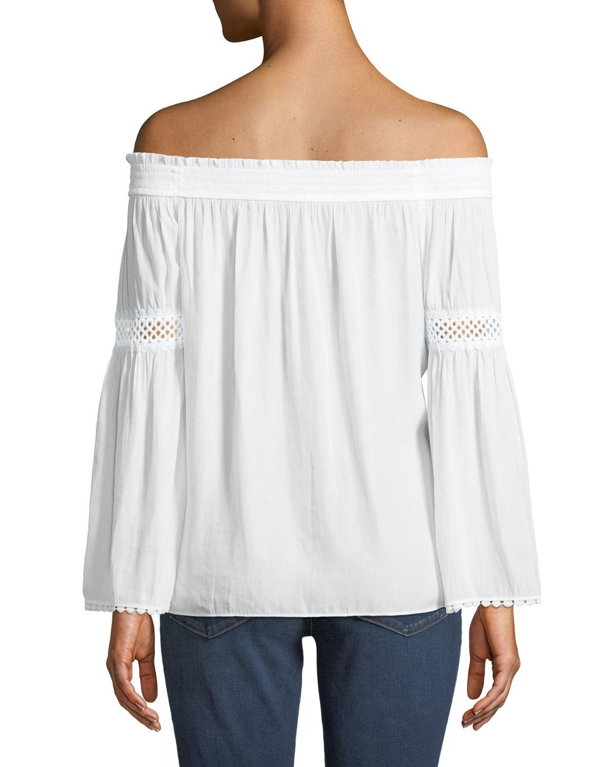 Lyst Ramy Brook Dalia Off The Shoulder Peasant Blouse In White